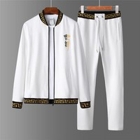 Boys & Men Versace Cardigan Jacket Coat Pants Trousers Set Two-Piece Sportswear