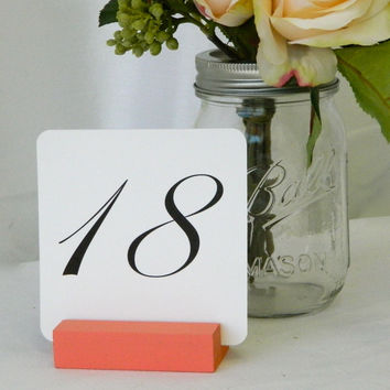 Coral Table Number Holder