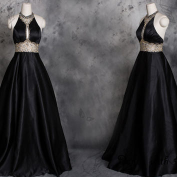 Sexy Black rhinestones beading prom dresses,prom dress,long prom dress,bridesmaid dresses,evening dresses,bridesmaid dress,evening dress