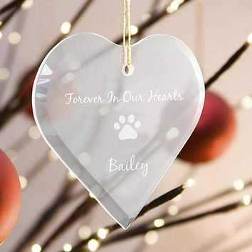 Personalized Pet Memorial Ornament - Forever In Our Hearts