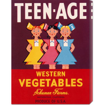 Global Gallery GCS37608522142 Teen - Age Western Vegetables: 22 x 16.5 Canvas Giclees, Wall Art