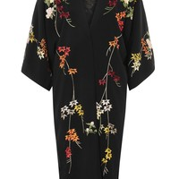 Black Embroidered Kimono - New In Fashion - New In