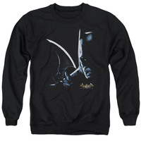 BATMAN AA/ARKHAM BATMAN - ADULT CREWNECK SWEATSHIRT - BLACK -