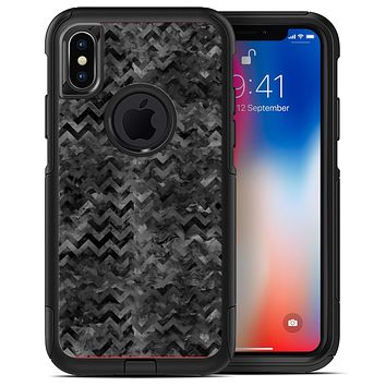 Black Basic Watercolor Chevron Pattern - iPhone X OtterBox Case & Skin Kits