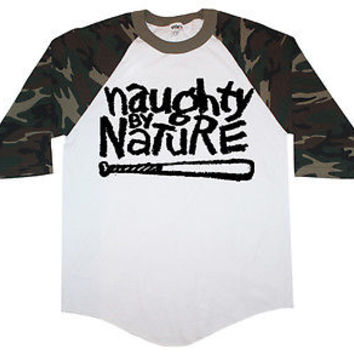 Naughty By Nature Camo Baseball T shirt OPP Wu Tang Hip Hop Crewneck Hoodie Tank