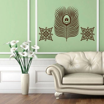 Wall Decals Egypt Egyptian Culture Patterns Feathers Ancient Eastern Art Bedroom Living Any Room Vinyl  Sticker Home Decor Mural  ML151