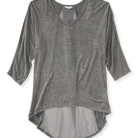 DOLMAN SHEER BACK TOP