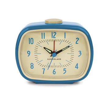 Retro-Style Alarm Clock in Blue
