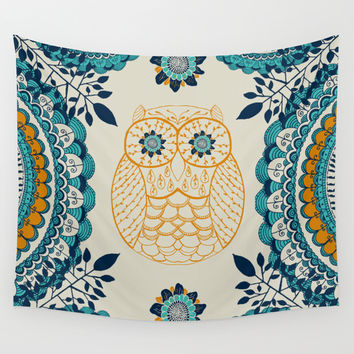 BOHO Owl Wall Tapestry by Rskinner1122