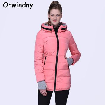 Orwindny Wadded Clothing Female New Women's Winter Jacket Cotton Jacket Slim Parkas Ladies Coats XS-XXL