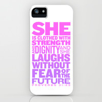 She Is... (Proverbs 31:25) iPhone & iPod Case by LookHUMAN