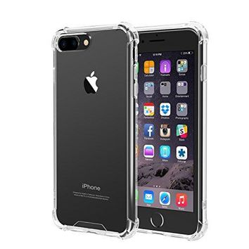 iPhone 7 Plus Case, iXCC iPhone 7 Plus Crystal Clear Cover Case [Shock Absorption] with Soft TPU Bumper for iPhone7 Plus 5.5 Inch (2016) - Clear
