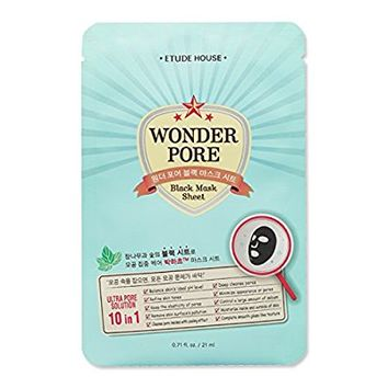 Etude House Wonder Pore Black Mask Sheet X 10 Sheets