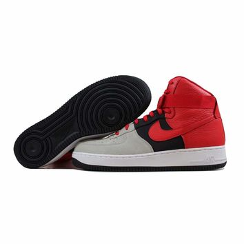 Nike Air Force 1 High 07 LV8 Wolf Grey/University Red-Black 806403-007