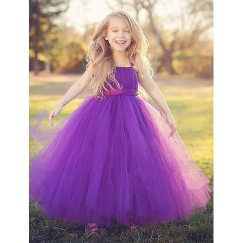 New Style Tutu Tulle Baby Flower Girl Dress Puffy Ball Gown Birthday Evening Prom Cloth Party Dresses