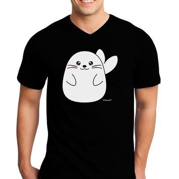 Cute Seal Adult Dark V-Neck T-Shirt by TooLoud