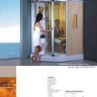 Shower Enclosure Cabinet Wet / Dry Steam Infrared Sauna Cabinet Enclosure