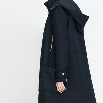 WOOL PARKA WITH ZIP - Coats - TRF | ZARA United States