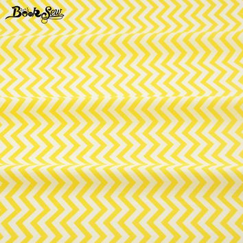 Sewing Cloth Craft Bedding Decoration Dolls Dress 100% Cotton Fabric Home Textile Yellow Waves Designs Patchwork Quilting