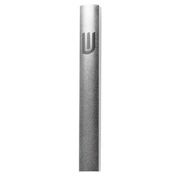 "Aluminium Mezuzah 10cm- Dotted Design in Gray, with the Letter ""Shin"""