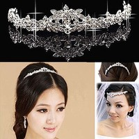Bridal Rhinestone AB Crystal Prom Headdress Headpiece crown Hair tiara HR175