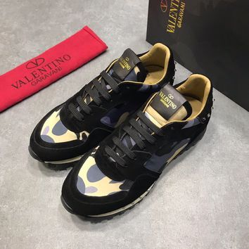 VALENTINO  Fashion Men Casual Running Sport Shoes Sneakers Slipper Sandals