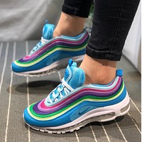 Nike Air Max 97 Bullet retro full palm air cushion running shoes