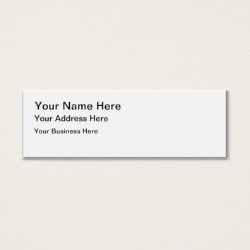 Customized Template Mini Size Business Card