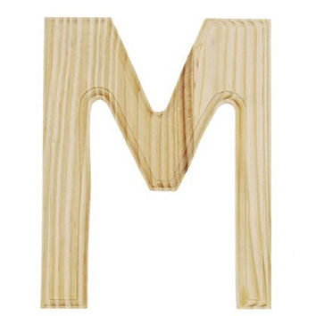 Shop wood letter m on wanelo for Darice 7 fancy wood letters