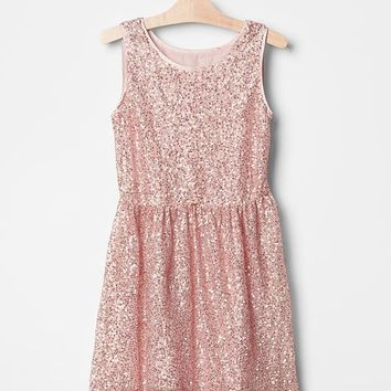 Gap Girls Sparkle Fit & Flare Dress