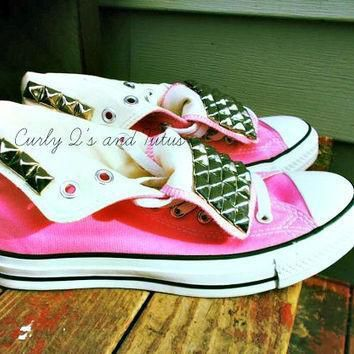 adult studded high top converse