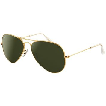 Ray-Ban Men's Aviator RB3025-L0205-58 Gold Sunglasses