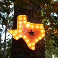 "24"" Texas Vintage Marquee Lights Sign (Rustic)"
