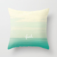faith Throw Pillow by Lisa Argyropoulos | Society6
