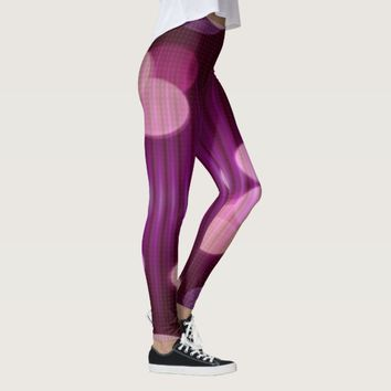 Abstract Magenta Party Lights Leggings