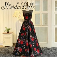 modabelle Real Photo Floral Evening Gown Abendkleider 2017 Dubai A-line Floor Length 3D Flowers Prom Dress Caftan Dubai
