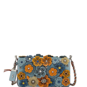 Coach 1941 Dinky Tea Rose Crossbody Bag, Blue/Multi