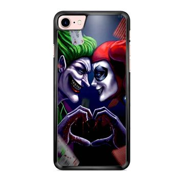 Harley Quinn And Joker Love Art iPhone 7 Case