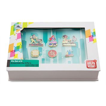 Disney Vanellope and Princesses from Ralph Breaks Pin Set Limited New with Box