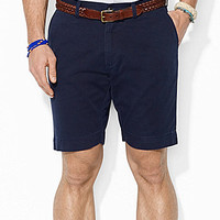 Polo Ralph Lauren Classic-Fit Flat-Front Chino Shorts - Hampton Blue
