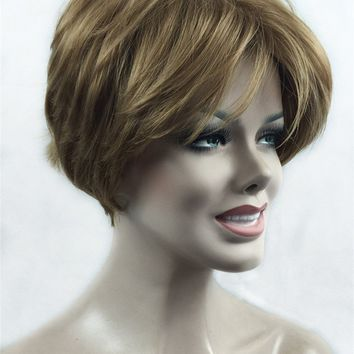 Strong Beauty Synthetic Hair Female Short Straight Wigs Cut Hairstyle For Black Women Many Color For Choose