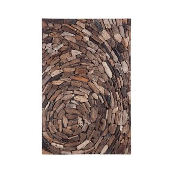 Driftwood Whirl Wall Art Natural