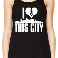 I Love This City Tank Top, Workout Tank Top, Gym Tank, Running Tank Top, Funny Working Out Tank Top, Crossfit Tank B-273-TANK