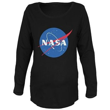 NASA Logo Maternity Soft Long Sleeve T Shirt