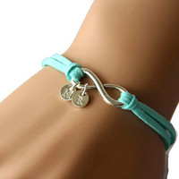 infinity initial bracelet, his and hers bracelet, hers and hers bracelet, best gift for couple/braidsmaid/best friends