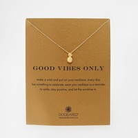 Dogeared Gold Plated Good Vibes Only Pineapple Necklace