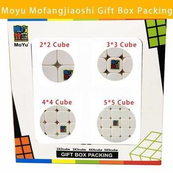 MoYu Mofangjiaoshi 2x2x2 3x3x3 4x4x4 5x5x5 Cube Magic Cube Gift Box Packing Puzzle  Classic Toys For Children Pyramorphix