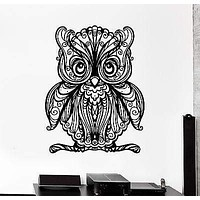 Wall Decal Owl Baby Bird Ornament Tribal Mural Vinyl Decal Unique Gift (z3183)