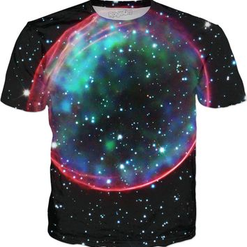 Hubble Bubble Supernova | Universe Galaxy Nebula Star Clothes | Rave & Festival Shirt