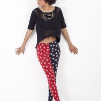 American Flag Leggings | Split Star Leggings | MessesOfDresses.com